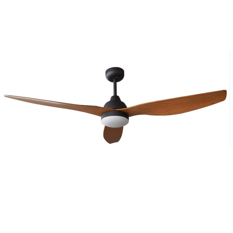 Flat WOOD Wing is a ceiling fan DC 132 Cm equipped with a remote control and light