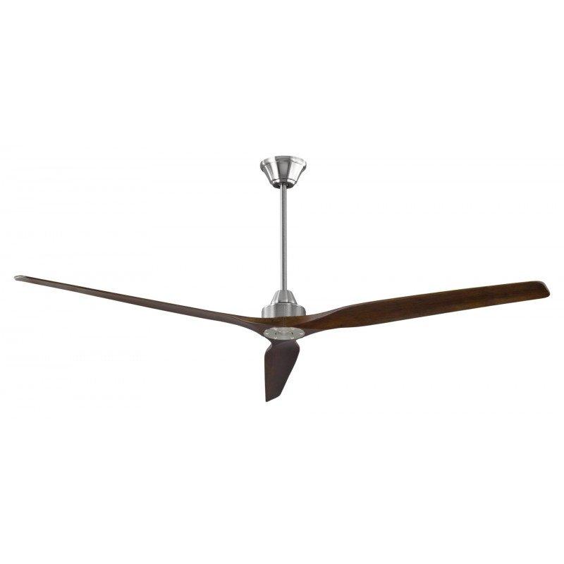 Softy un ventilateur de plafond DC 178 Cm design, pales bois chêne claire tige de 60 Cm