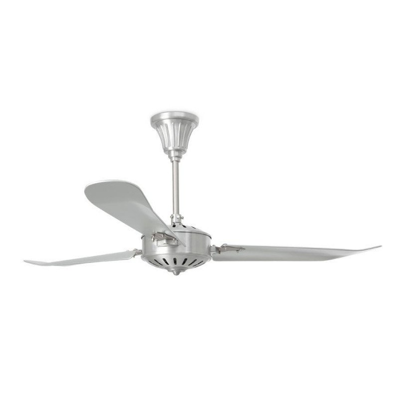 Ventilateur de plafond moderne 142 cm nickel mat faro AOBA 33366