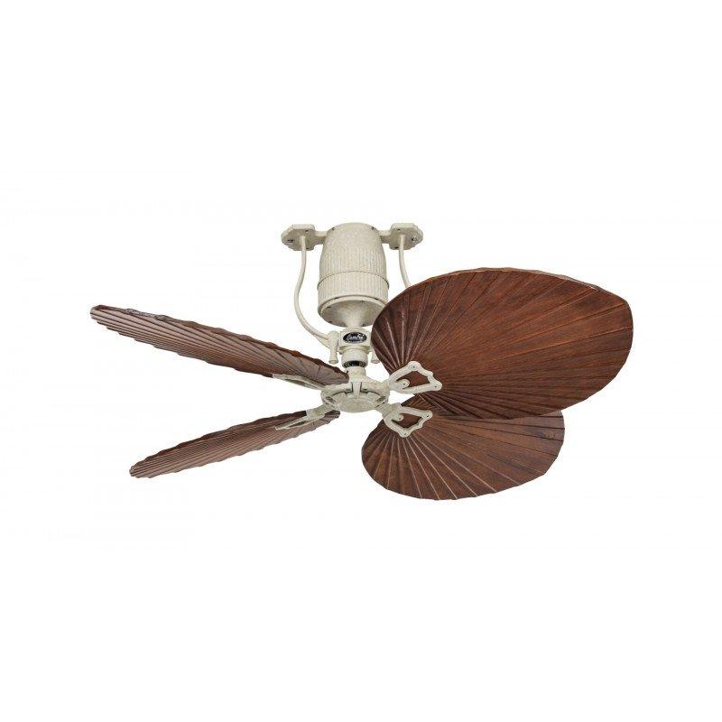 Roadhouse BA CASAFAN - Vintage ceiling fan, motor bronze blades 132 Cm cherry wood, DC motor, remote control