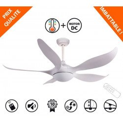 KOSTEN de KlassFan un ventilateurs de plafond DC design, plus compact, ultra puissant, avec thermostat