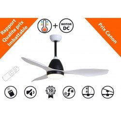 KlassFan Fresh a DC ceiling destratification fan, ultra quiet performance, with thermostat