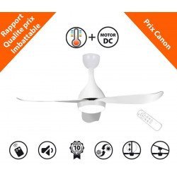 Costos de KlassFan un ventilateurs de plafond DC design, ultra silencieux équipé d'un thermostat déclencheur