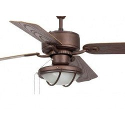 Ceiling Fan, classic, brown, 132 cm. lamp, IR remote control, FARO 33357