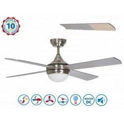 Volt de Purline By KlassFan ventilateurs de plafond DC design, Wifi avec thermostat ultra puissant, avec plaque LED dimmable