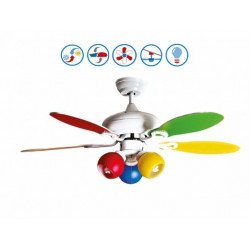 Colore de Purline by Klassfan multicolore un ventilateur pour chambre d'enfant.