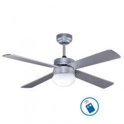 Ventilatore a soffitto 106 cm con luce integrata -LIBE- lame facce - rovere invecchiato / acero