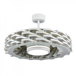 ventilateur de plafond sans lampe 132 Cm blanc 3 pales avec commande mural ideal pour 20 à 30 m²