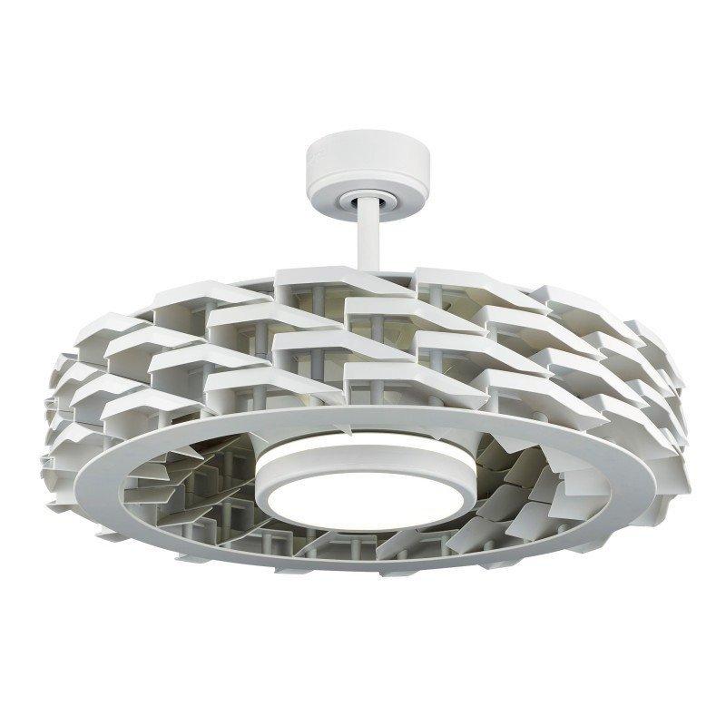 Yoga blanc ventilateur de plafond sans pales ventile et destratificateur d'air avec thermostat.