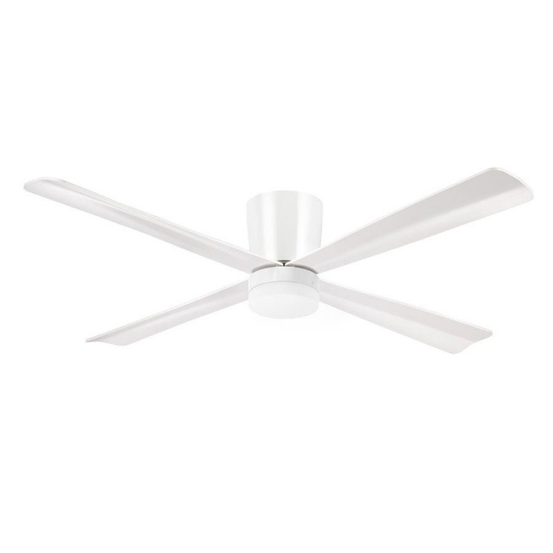 Lba home SmallProfile Ventilateur de plafond moderne 132 cm plafond bas DC et point lumineux led