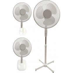 Ventilateur 3 en 1, hybride, pied, table, mural