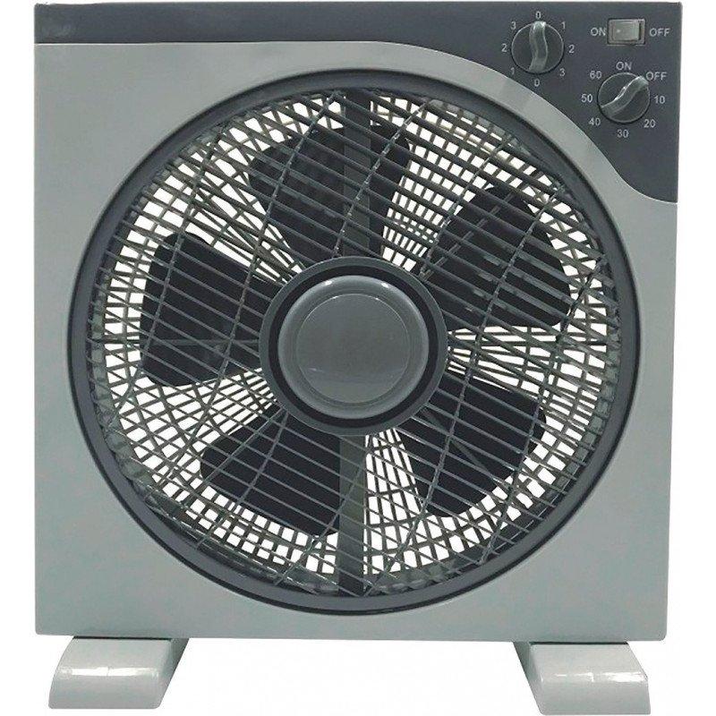 Ventilateur tropicalisé format fenêtre 40 Cm, blanc 3 vitesses avec grille de protection, oscillant.