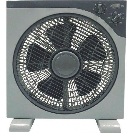 Ventilateur tropicale fenêtre 40 Cm, Gris 3 vitesses avec grille de protection avec rotation.