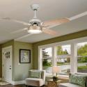 Ventilateur de plafond moderne marron 107 cm , plaque led de 16 wtélécommande
