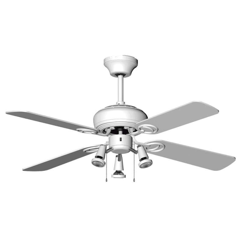 Ventilateur de plafond moderne blanc 107 cm , plaque led de 16 wtélécommande