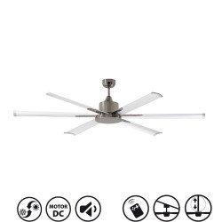 ventilatore a soffitto, grande, moderno, DC 33465 215 cm FARO ANDROS