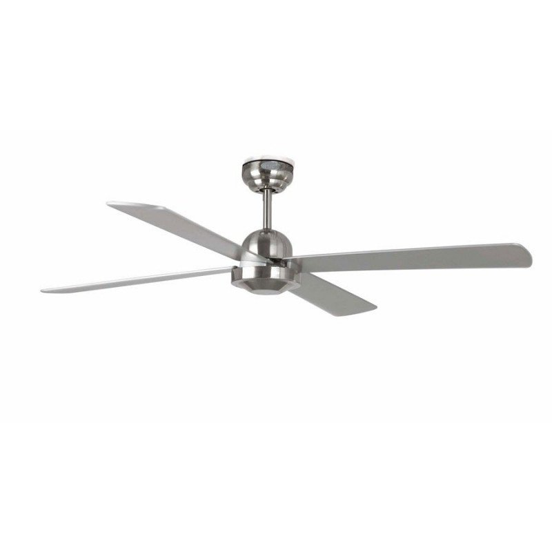 Ventilateur de plafond moderne 132 cm nickel mat faro IBIZA 33287