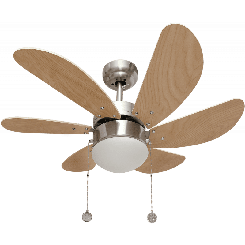 Ventilateur de plafond avec lampre pour chambre Colores