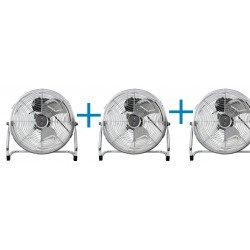 Brasseur d'air industriel haute performances 35 Cm, 55 Watts avec potence et rotation à 180 °.