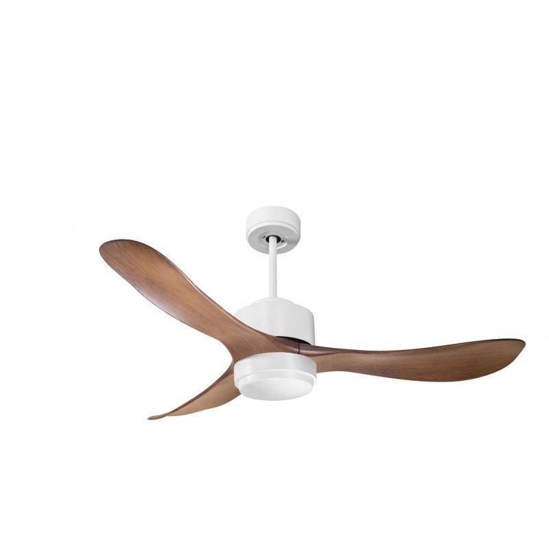 Modulo de KlassFan - Ventilateur DC de plafond sans Lumière Blanc laqué et bois idéal pour 25 à 40 m² KL_DC4_P3Wo
