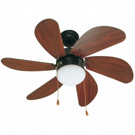 ceiling fan, brown matt , 81 cm. with light- FARO PALAO brown 33185