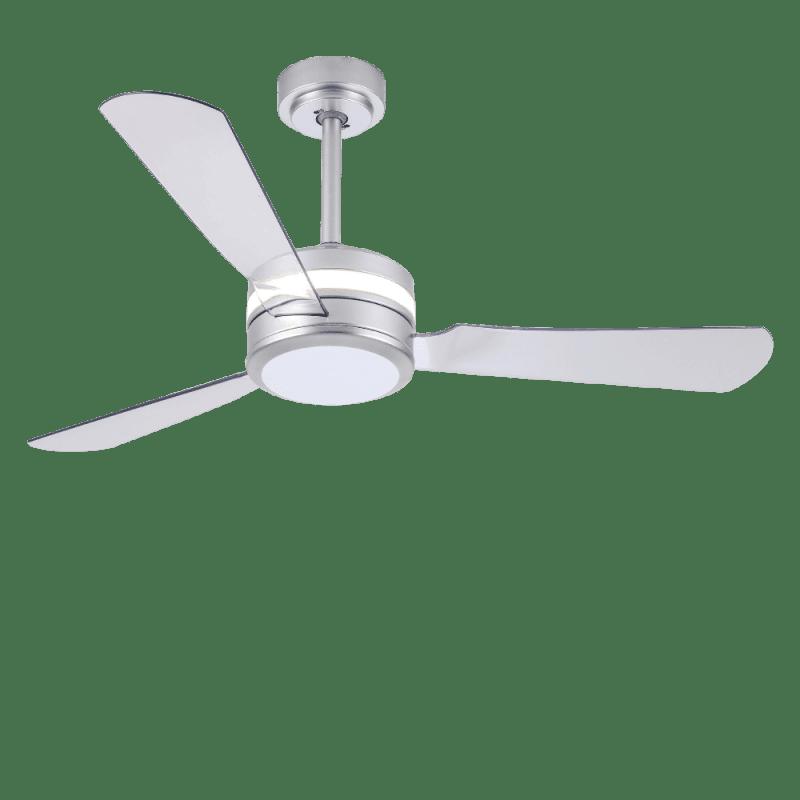 Ventilateur de plafond Pure led dimmable design pales transparentes