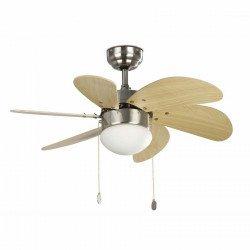 Ventilateur de plafond nickele mat 81 cm avec lampe intégrée - FARO PALAO nickel mat 33183