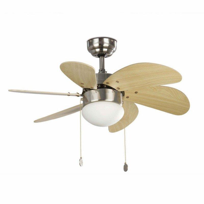 ceiling fan, matte brown, 81 cm. with lampada - FARO 33183 PALAO nickel mat