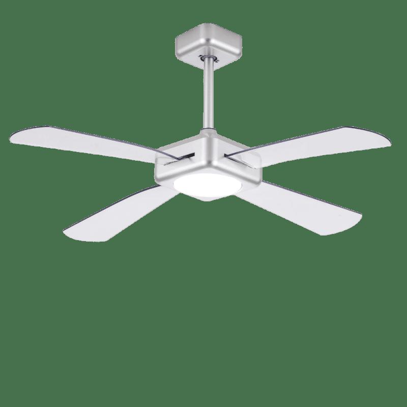 Ventilateur de plafond Quartet led dimmable design pales transparentes