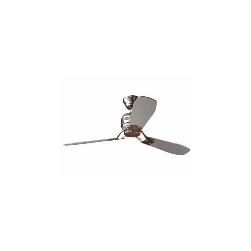 Ventilateur de plafond moderne 132 cm chrome hunter industrial