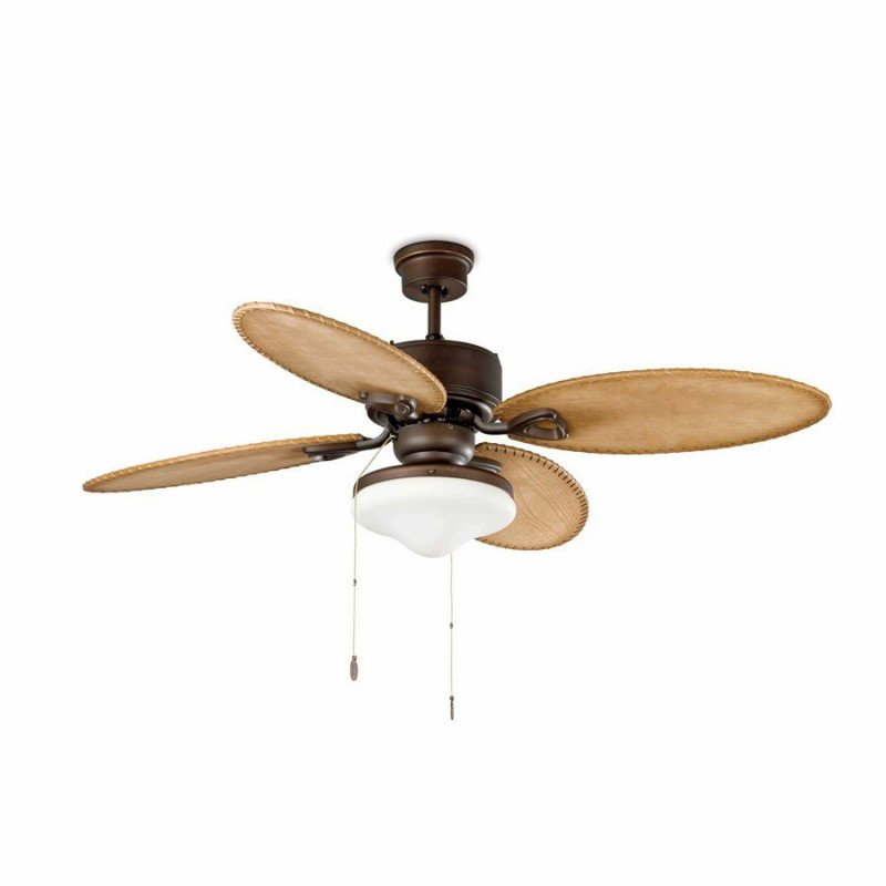 Lombok is a colonial ceiling fan with a light spot colonial ceiling fan brown with light 132 cm faro lombok 33019 aloadofball Choice Image