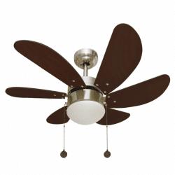 Потолочный вентилятор, дизайн, твердые лезвия грецкого ореха Лантау FARO 33370