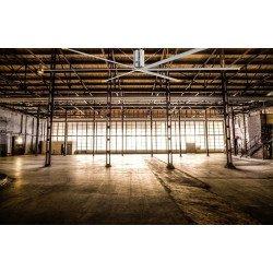 HVLS AC Stator OM-KQ-6E 380V. Ventilateur de plafond industriel 6,1 m. Couverture ultra efficace de 1800