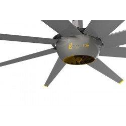 DC Raptor HVLS RTDC8 8ft. ventilateur industriel à haut rendement. Faible consommation d'énergie et volume d'air élevé,140 m².