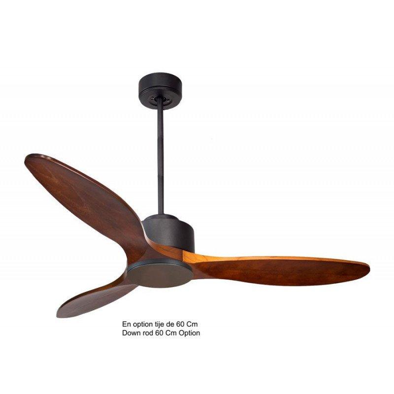 Modulo de KlassFan - déstratificateur d'air sans Lumière noir et bois rouge idéal pour 25 à 40 m² ultra efficace