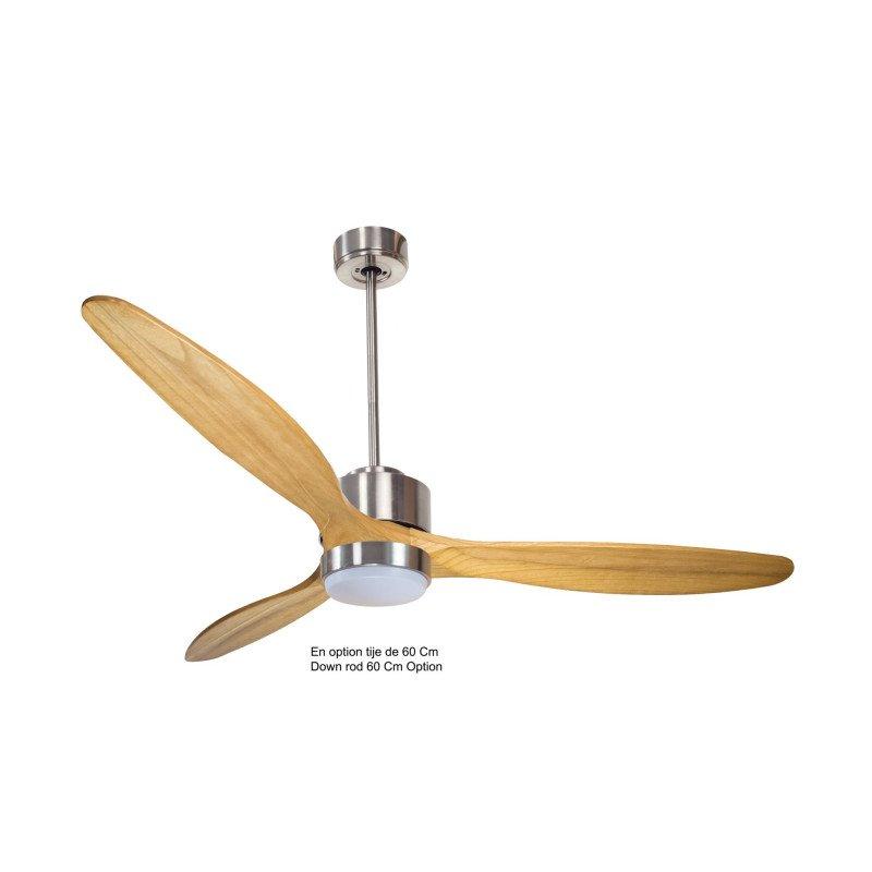 Modulo de KlassFan - déstratificateur d'air sans Lumière gris basalt et bois clair idéal à partir de 40 m² ultra efficace