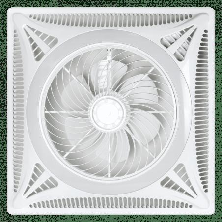 Ventilateur Ceiling Turbine, plaque encastrée 60x60, idéal pour les faux plafonds, blanc, moteur DC, Lba Home.