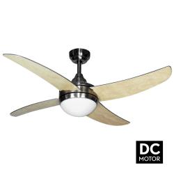 ArtusDCHaya Lba home un ventilateur pour chambre avec télécommande et point lumineux.