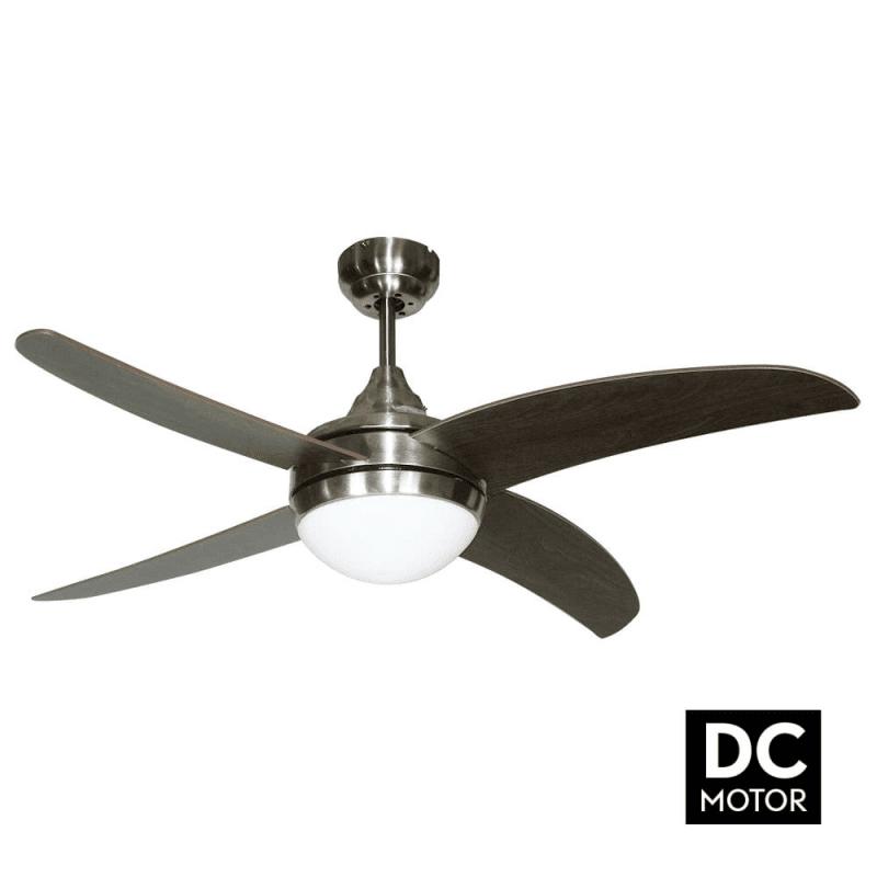 ArtusDCVengéLba home un ventilateur pour chambre avec télécommande et point lumineux.