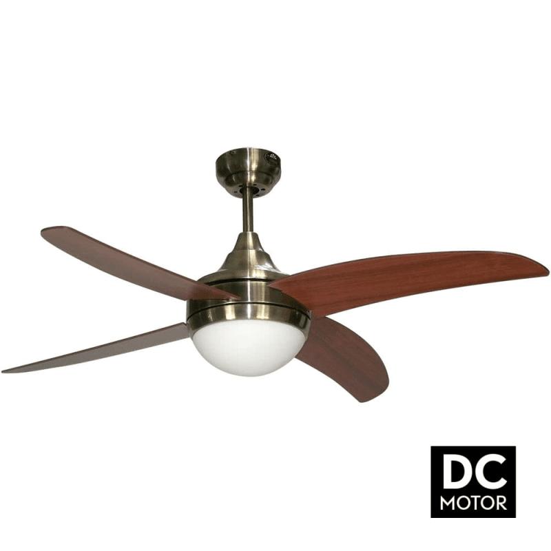 ArtusDCCerisierLba home un ventilateur pour chambre avec télécommande et point lumineux.