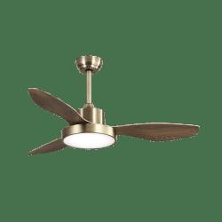 Ventilateur de plafond Brass Wind moderne