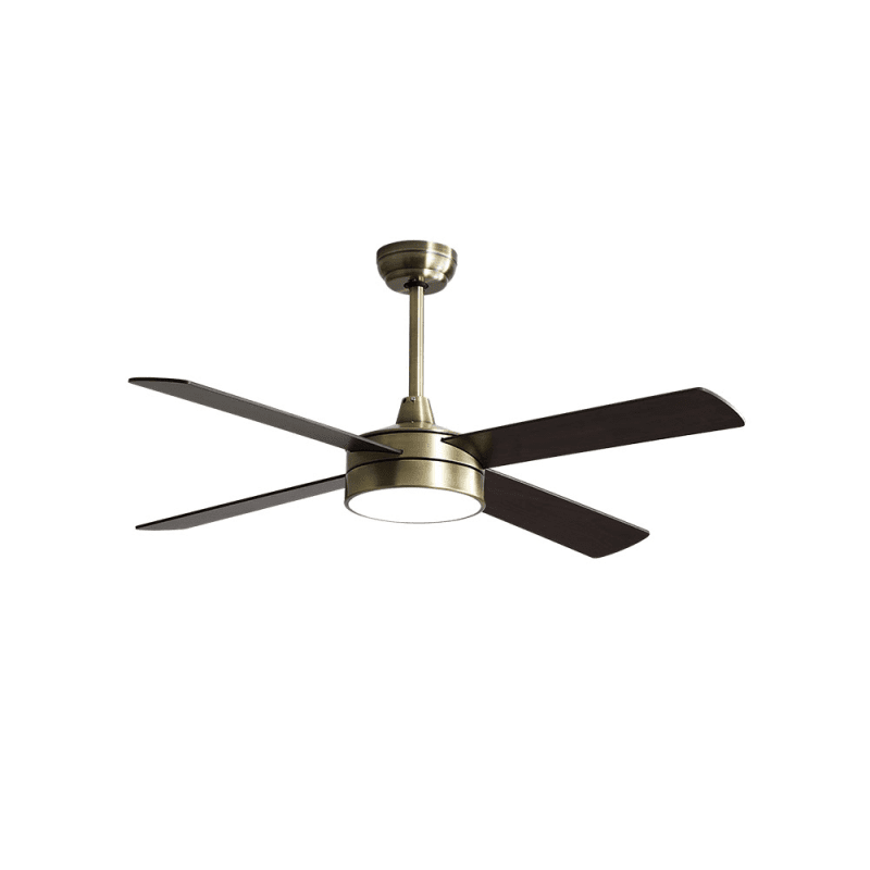Ventilateur de plafond moderne laiton 132 cm avec lampe,télécommande