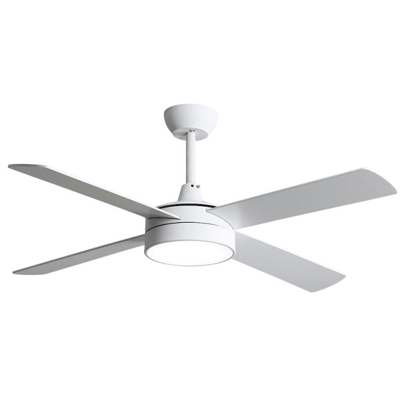 Ventilateur de plafond moderne blanc 132 cm avec lampe,télécommande