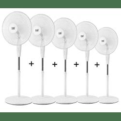 Ventilateur sur pied blanc 40 Cm, avec oscillation.