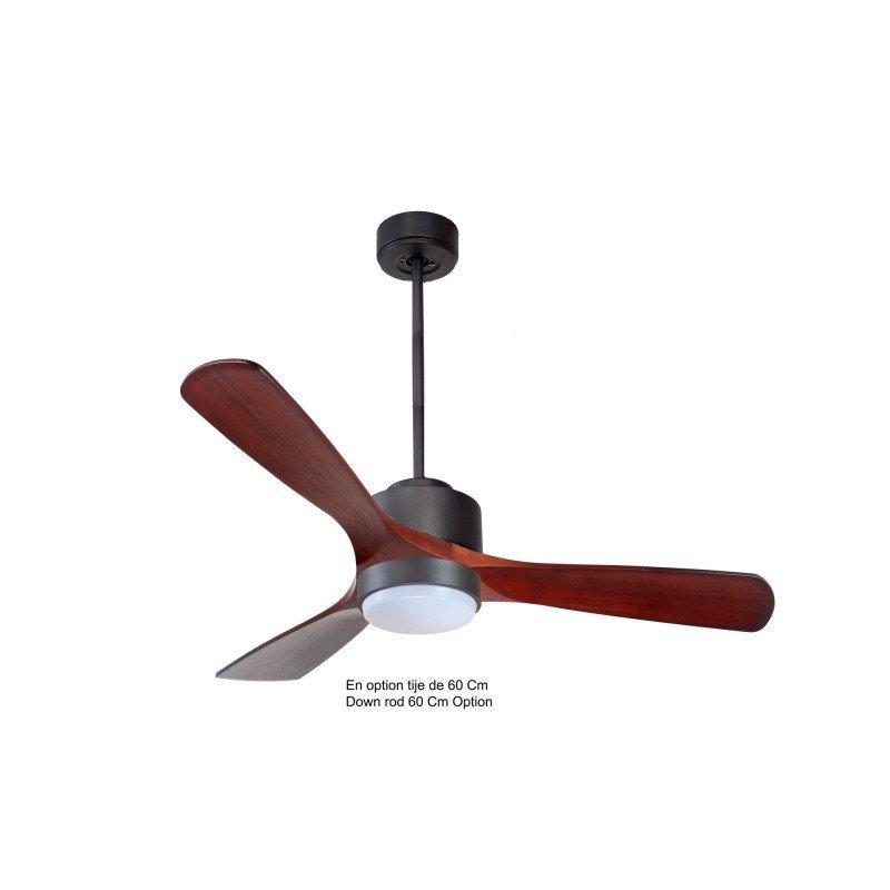 Modulo de KlassFan - déstratificateur d'air avec Lumière noir et bois rouge idéal à partir de 40 m² ultra efficace