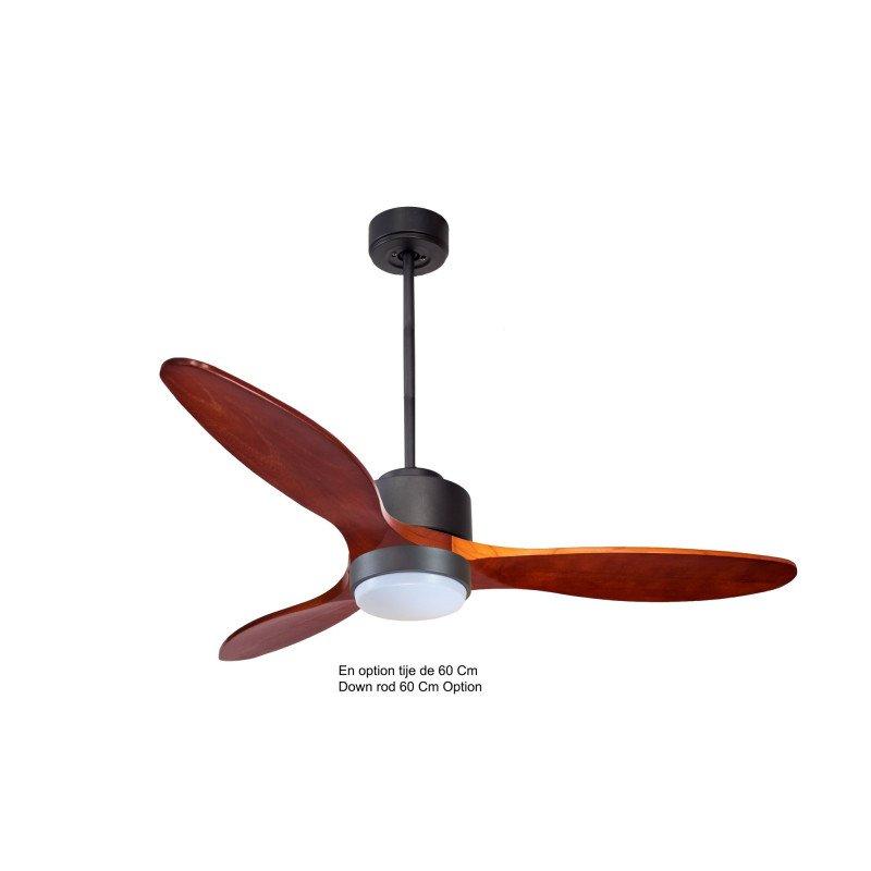 Modulo de KlassFan - déstratificateur d'air avec Lumière noir et bois rouge idéal pour 25 à 40 m² ultra efficace