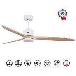 Ventilateur de plafond, super destratificateur moteur DC, 166 Cm pales bois , thermostat, ultra silencieux, Wifi, Melton lt