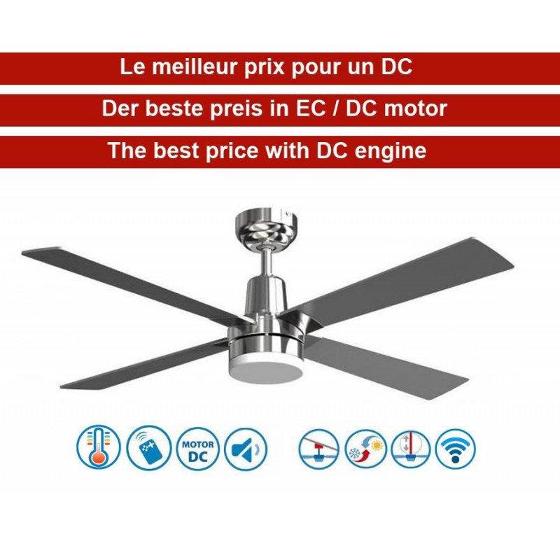 Electron de KlassFan une série limitée ventilateurs de plafond DC design, plus compact, ultra puissant, avec plaque LED