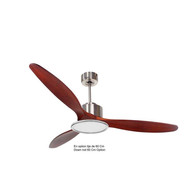 Modulo de KlassFan - Ventilateur de plafond avec lumière bois rouge idéal à partir de 40 m² KL_DC3_P5RW166L2Ch