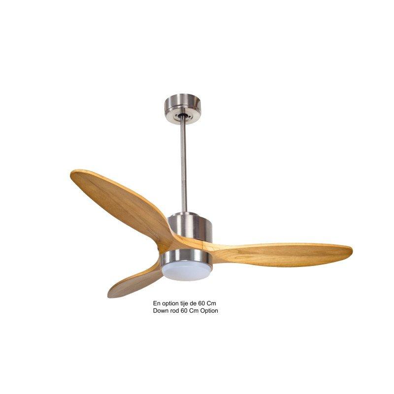 Modulo de KlassFan - déstratificateur d'air avec Lumière gris basalt et bois clair idéal à partir de 40 m² ultra efficace